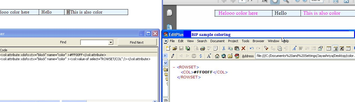 How to set dynamic color , based on xml element | Never name it