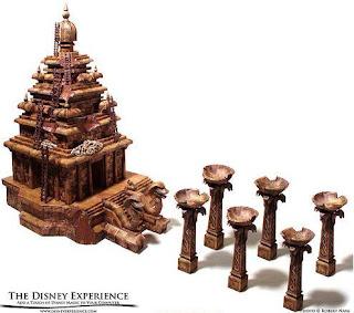 maqueta model templo