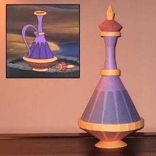 Aladdin Eden S Genie Bottle Papercraft Papercraft
