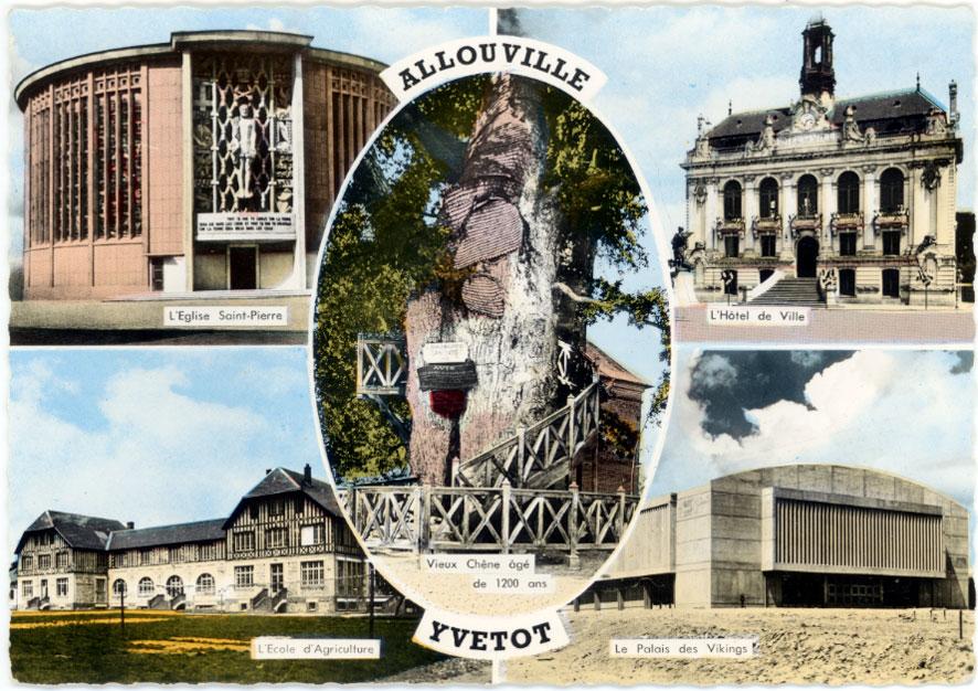 Architectures de cartes postales 1 des vikings une for Hotels yvetot