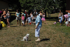 Mary enters Chanti in a dog trick contest