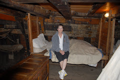 Mary checks out the bed on the Mayflower