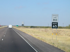 Texas - Speed limit 80 mph