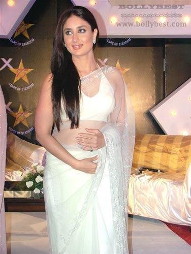 Kareena Kapoor in White Sari