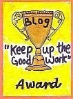Keep it up blog award