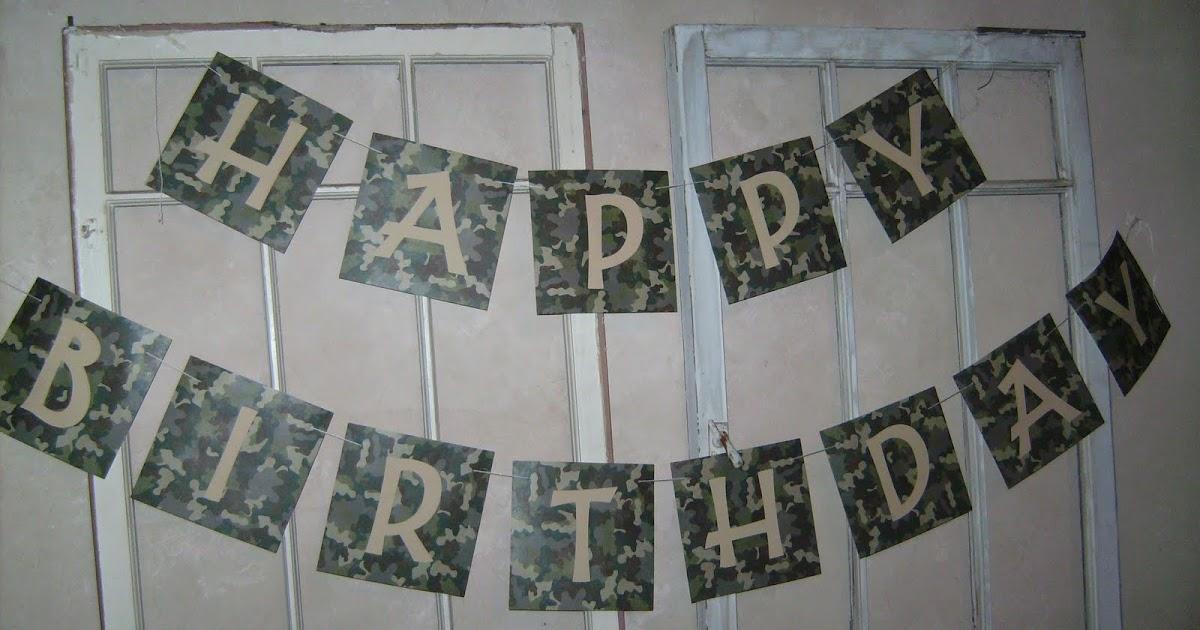 Over Creative Disorder Camo Birthday Party