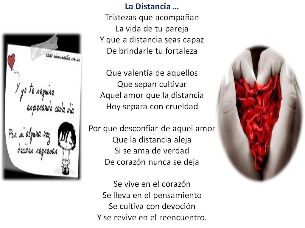 Amor En La Distancia: Poemas E Imágenes