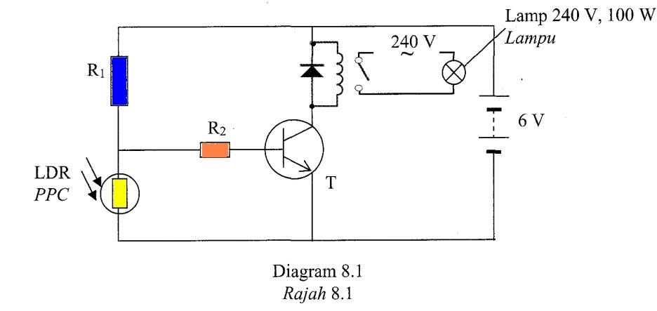 circuit diagram arrow pointing resistor