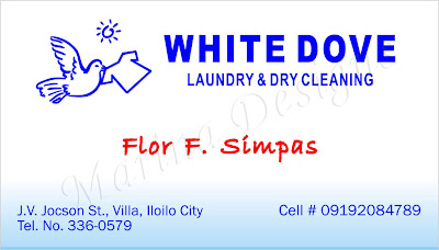 Sample Of Calling Cards Business Card Laundry Dry Cleaning
