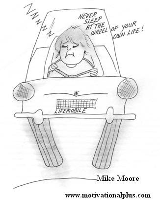 Mike Moore's Laughter Lounge : Self Improvement Cartoon