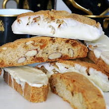 Crystalized Ginger,Almond and White Chocolate Biscotti