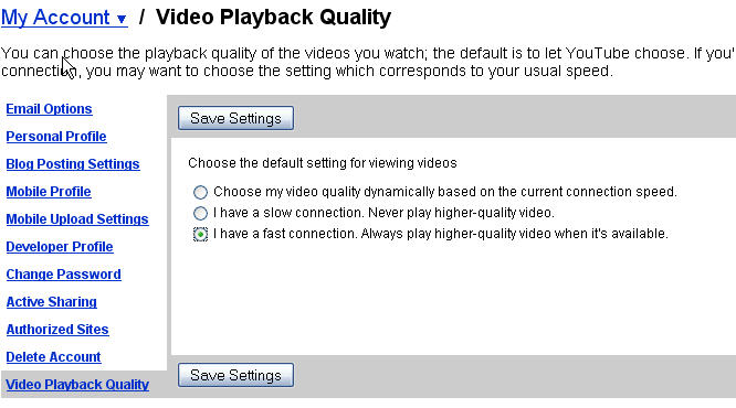 Watch YouTube Videos in High Definition