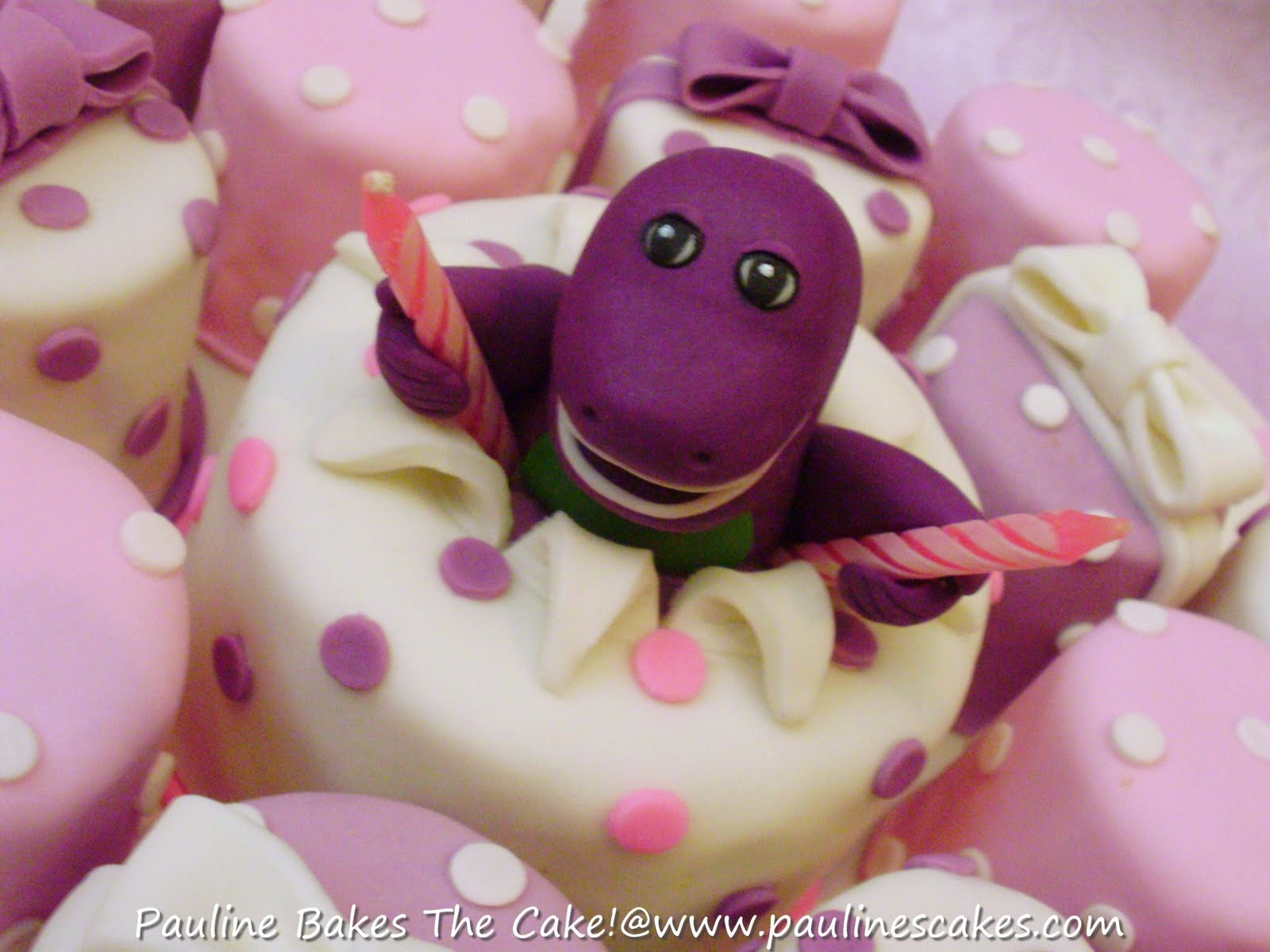barney cake pops - photo #16