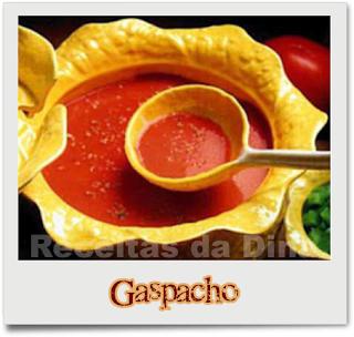 Receitas Entradas, Gaspacho