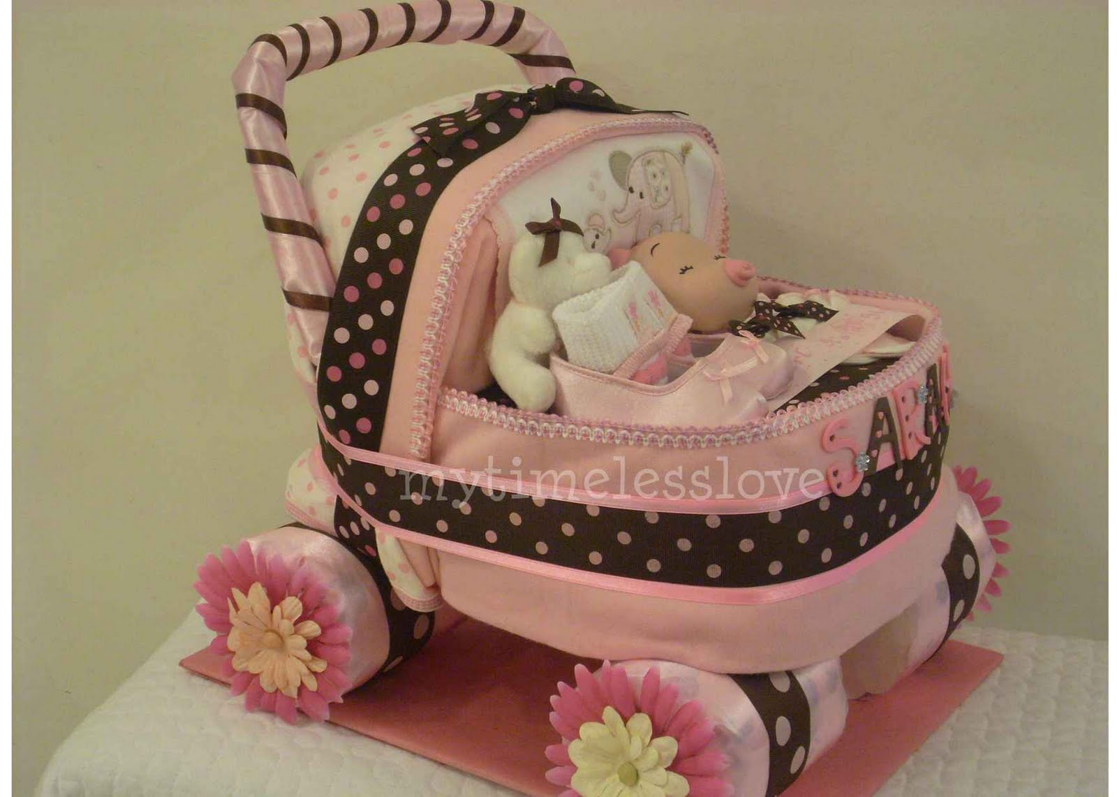 Stroller With The Bassinet My Timeless Love Diaper Cake Baby Carriage Diapercake