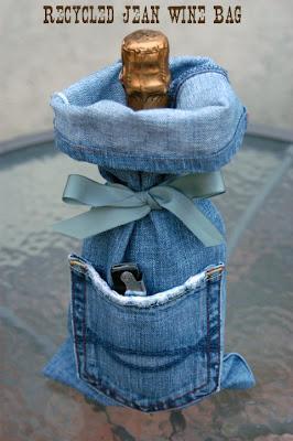 Cathie Filian Make It Denim Wine Bags Recycled