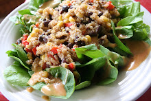 grilled corn, black bean, and quinoa salad
