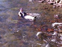 The Editor Floating Down a Crystal-Clear Stream in South Central Montana