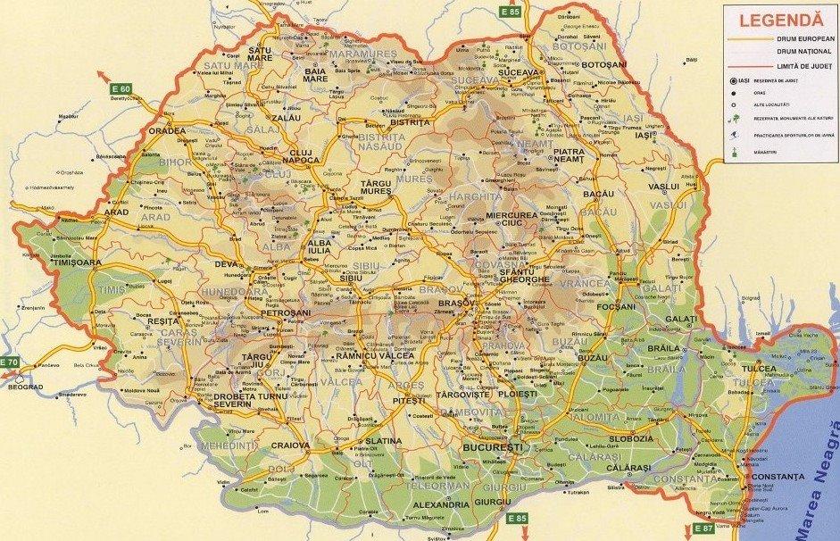 Harta Calimanesti Caciulata Harta