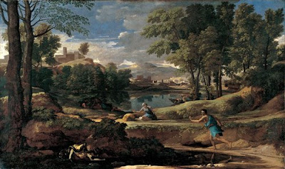 Landscape with a Man Killed by a Snake, by Poussin