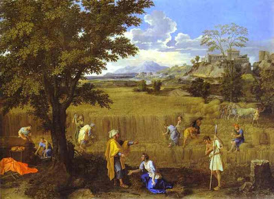 Summer: Ruth and Boaz, by Poussin