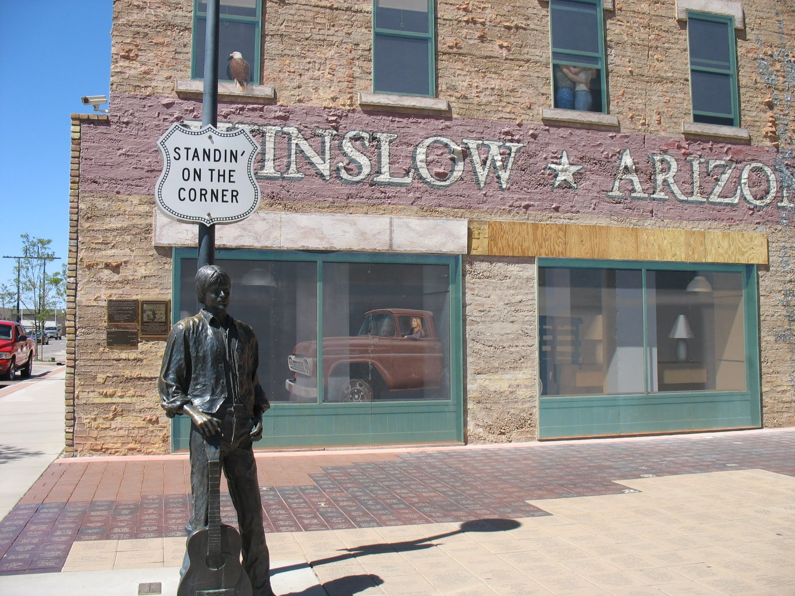 i 39 m standing on the corner in winslow arizona page 2. Black Bedroom Furniture Sets. Home Design Ideas