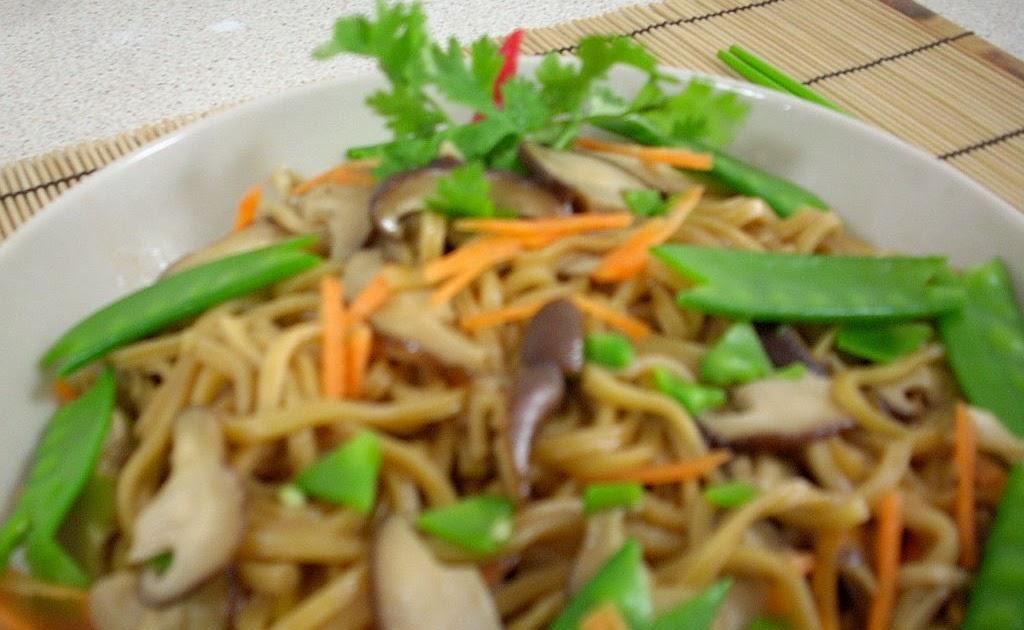 The modern vegetarian recipes stir fried mushroom noodle - The modern vegetarian kitchen ...