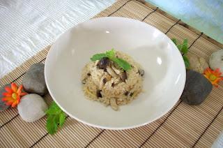 The modern vegetarian recipes shimeji mushroom rice - The modern vegetarian kitchen ...