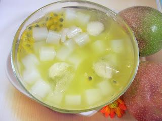 Nata De Coco With Passion Fruit Vegetarian N Vegan