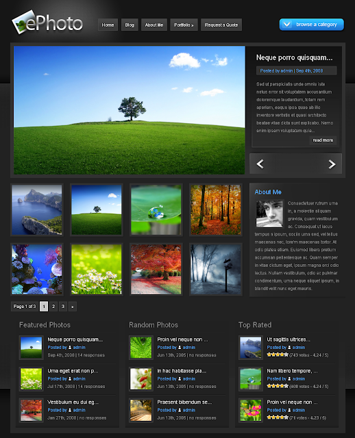 ePhoto Wordpress Theme Free Download.