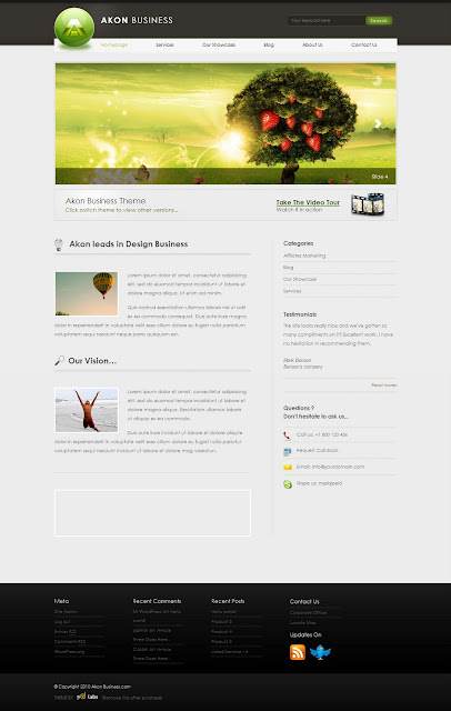 Akon Business Wordpress Theme by ThemeForest Free Download.