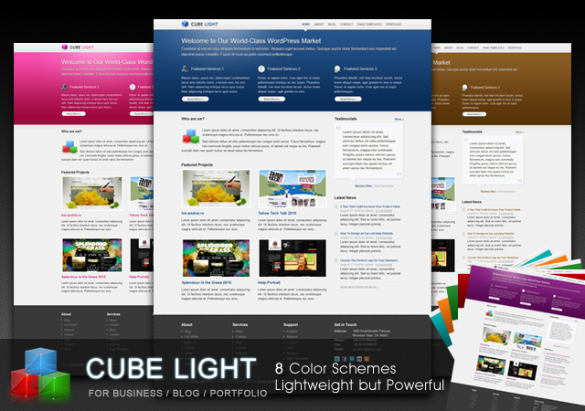 CubeLight Wordpress Theme Free Download by ThemeJunkie.