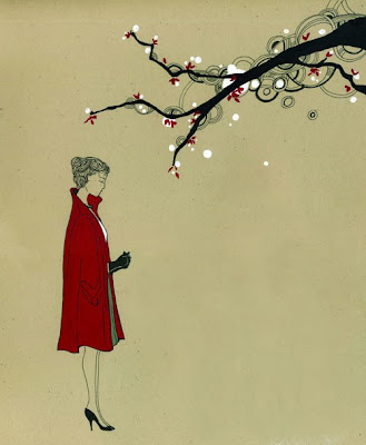 La Femme: lady hitchcock and the cherry blossom tree