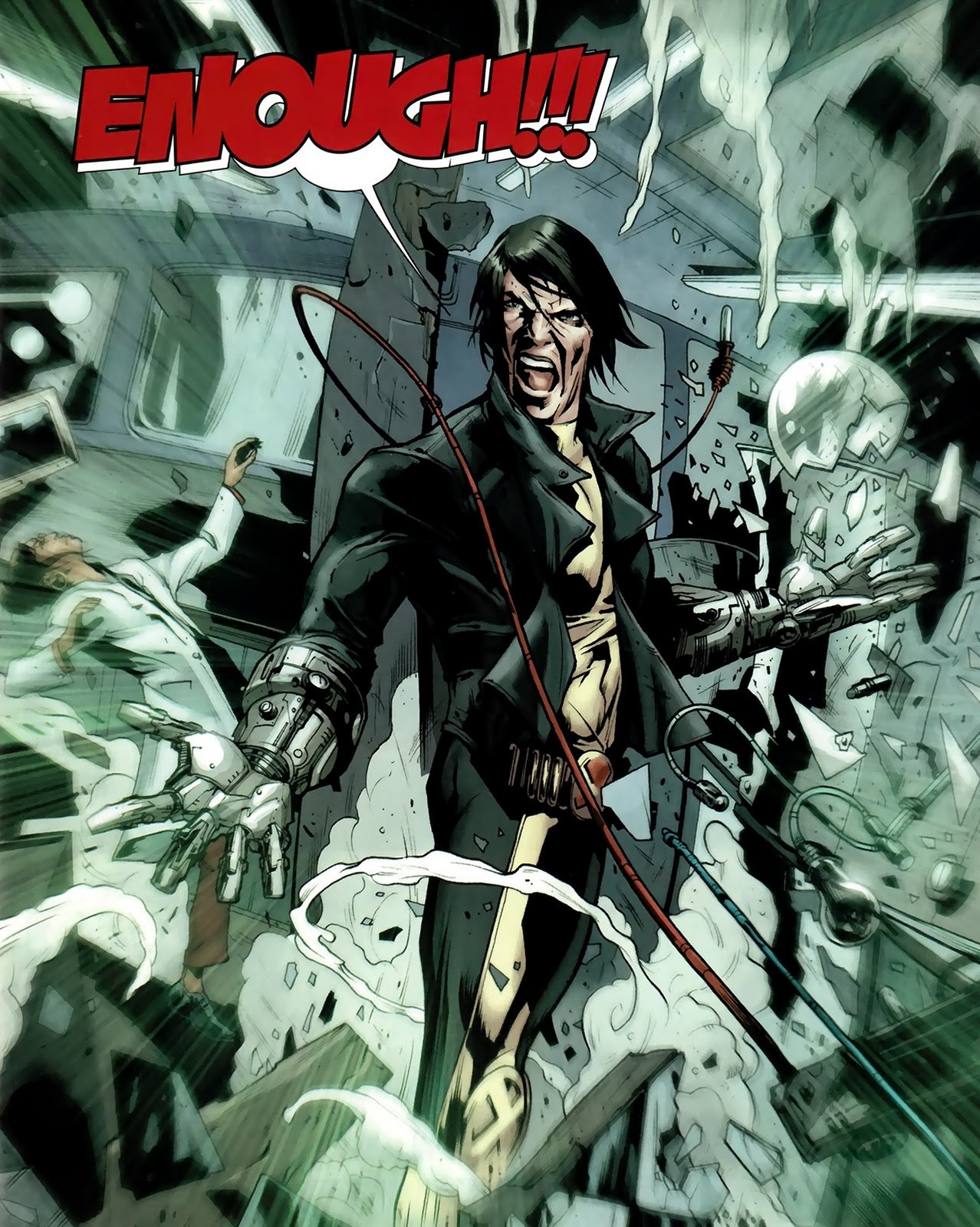 He epitomizes everyone still pissed off after bastions attack thats when rogue comes in remember this is a mike carey x books if rogue isnt involved