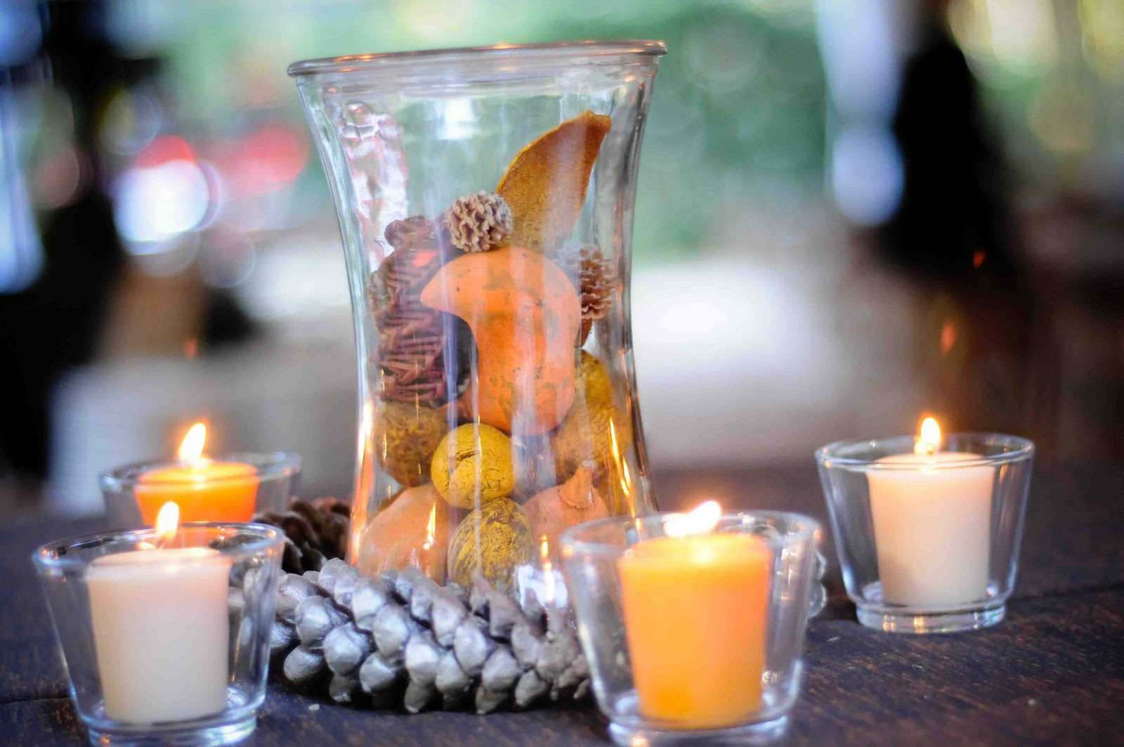 Fall Wedding Centerpieces On A Budget: Something Old, Something New: DIY: Fall Centerpieces