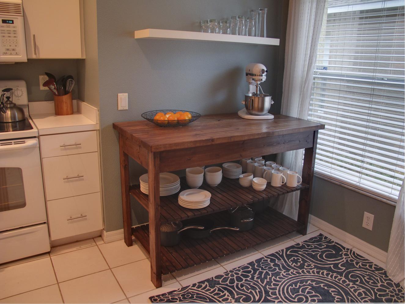 Domestic jenny diy kitchen island plans for Bulkhead kitchen designs