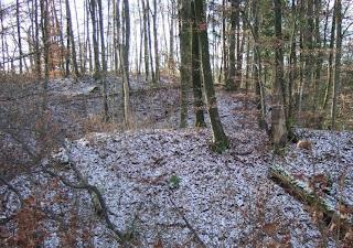Römerschanze bei Grünwald von außen