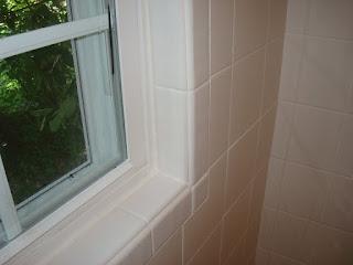 STRAIGHT EDGE TILE White X Tile Shower - 6x6 tiles in shower
