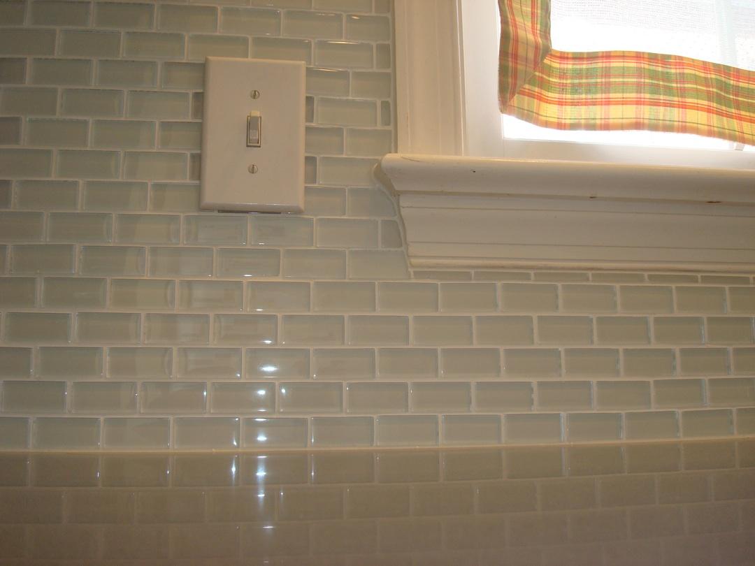 Straight Edge Tile Glass Tile Back Splash