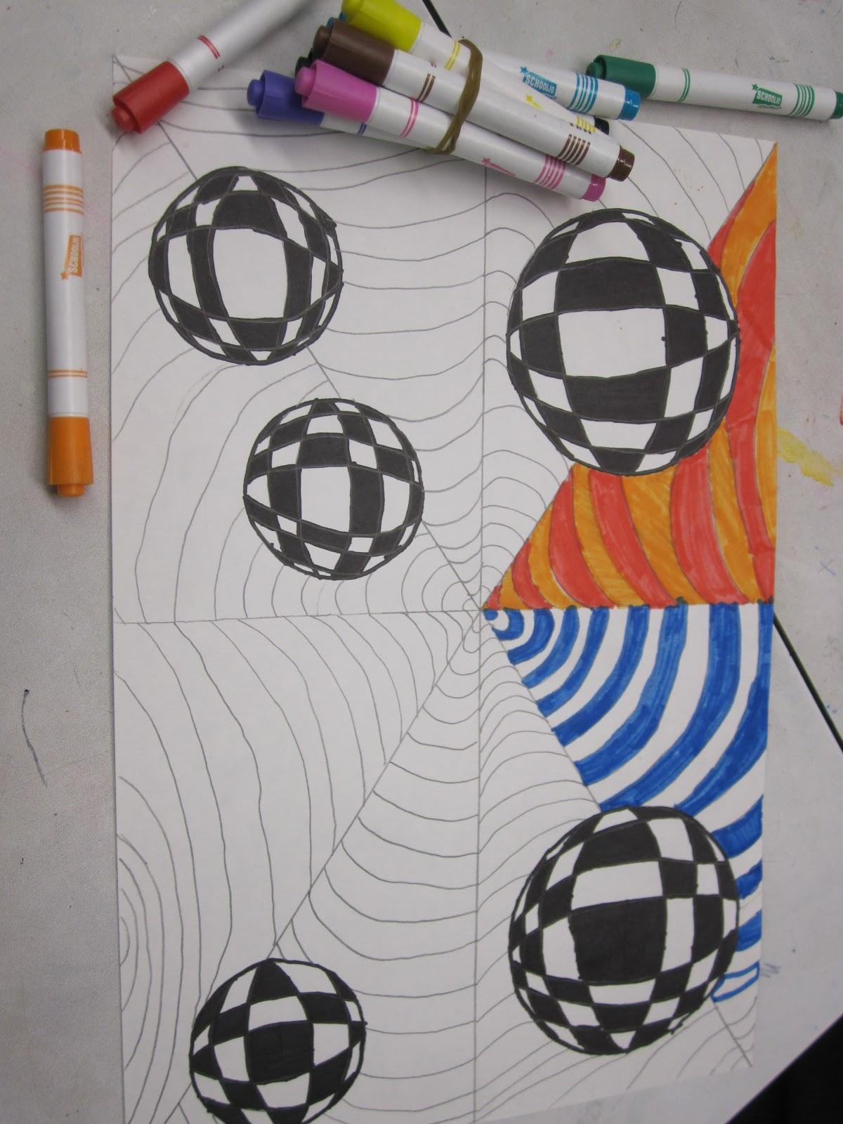 Think Create Art Op Art 6th Grade