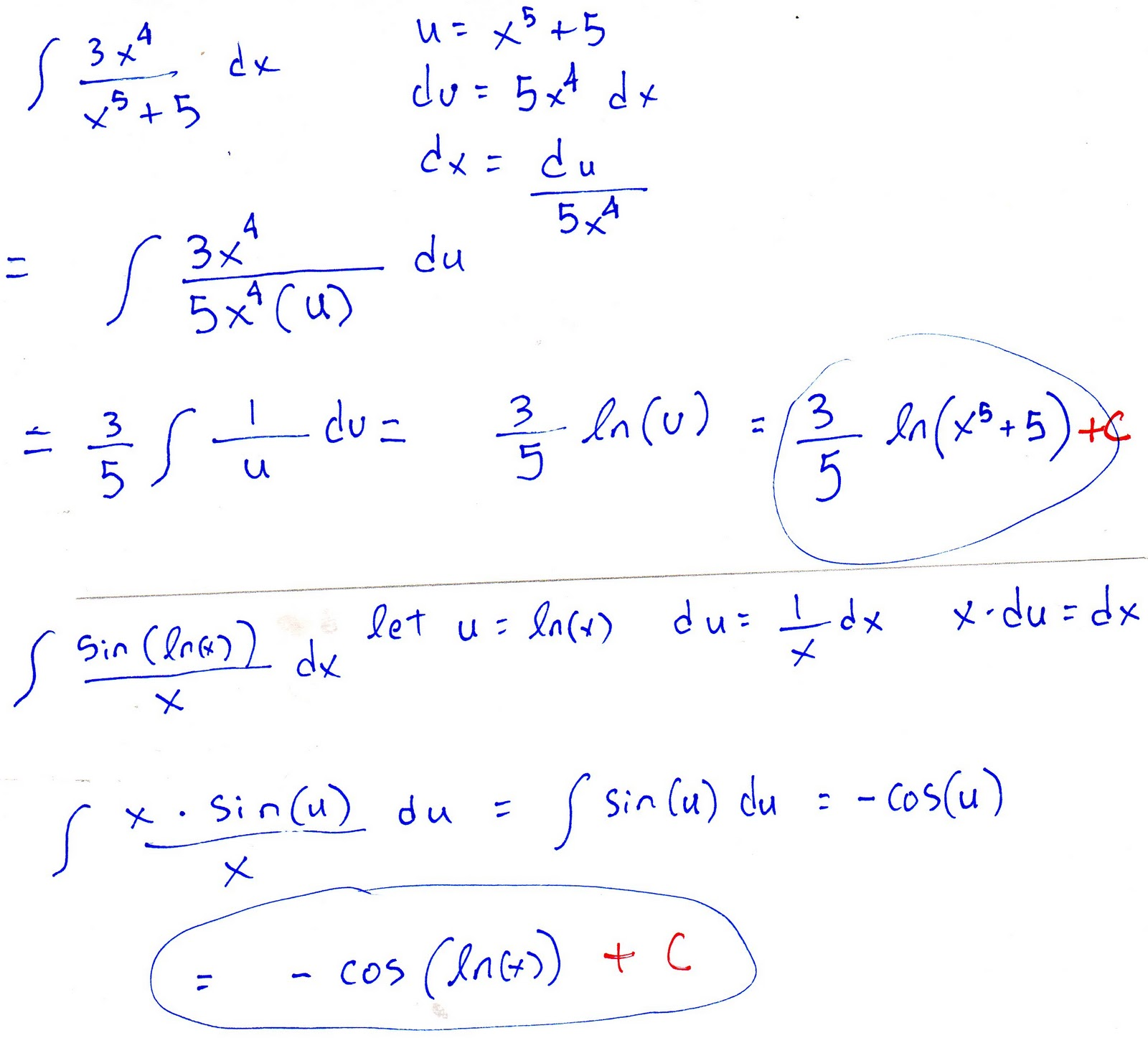 Calculus Help The Natural Logarithm