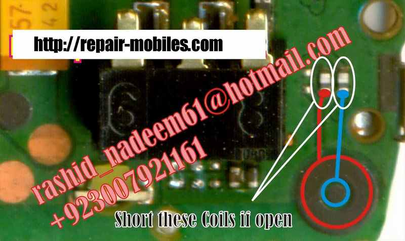 Mobile Repairing Pictures  Nokia 1661 Mic Sulotion