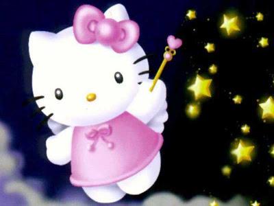 Gambar Hello Kitty Lucu Bintang Malam