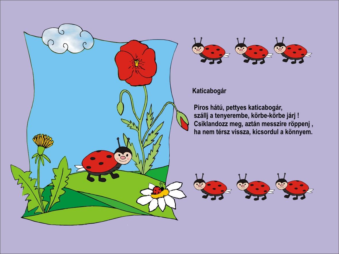 katicás szülinapi képeslap Gyermekszoba: Katicás vers katicás szülinapi képeslap