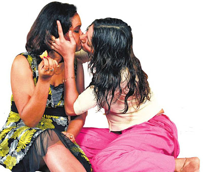Locket Chatterjee lesbian kiss with dona in Cha-e-chuti