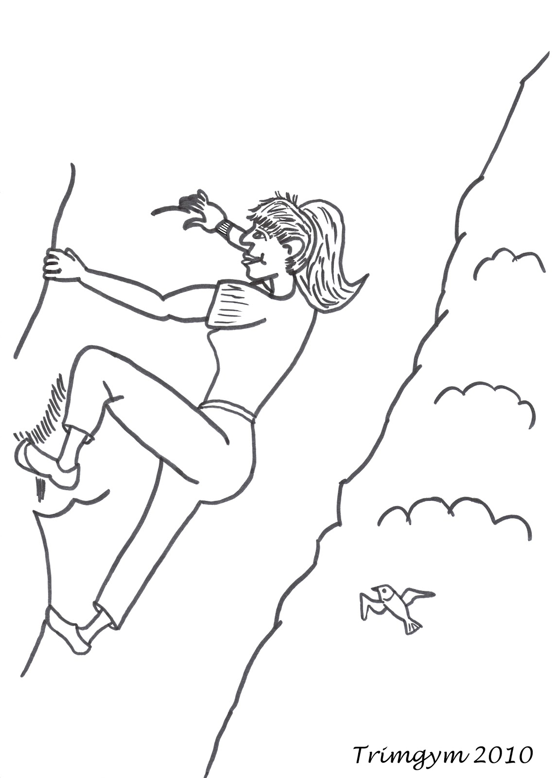 Mountain Climber Page Coloring Pages