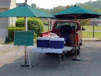 Howland Homestead's slot at the Kent CT Farmer's Market