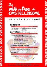 Cartell II Nit de Foc a Castellbisbal