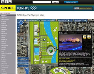 BBC Sport's Olympic Map 2008
