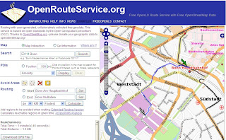 Open Route Service Fastest Route